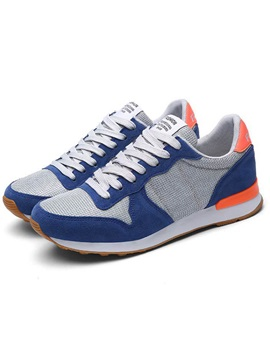 Mesh Color Block Chic Mens Sneakers