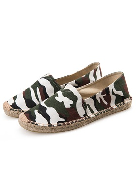 Canvas Camouflage Slip On Chic Mens Shoes