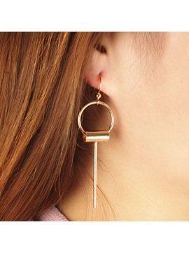 Long Copper Pipe Design Womens Earrings