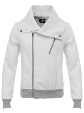 Asymmetric Zipper Lapel Mens Vogue Hoodie