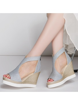 Glitter Elegant Womens Wedge Sandals