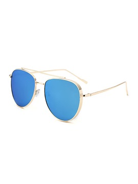 Colored Film Design Alloy Frame Anti Uv Sunglasses