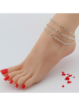 Rhinestone Tassels Bell Design Multilayer Anklet