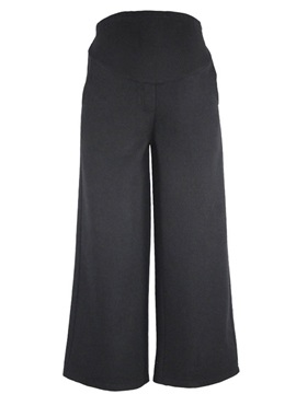 High Waist Plain Wide Leg Maternity Pants