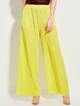 Yellow Loose Wide Legs Casual Pants