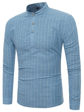 Spring Stripe Slim Fit Mens Vogue Shirt