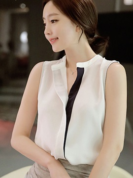 Chic Slim Sleeveless Blouse