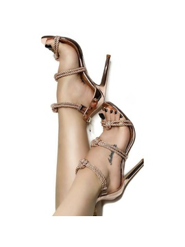 Open Toe Zipper Stiletto Heel Sandals