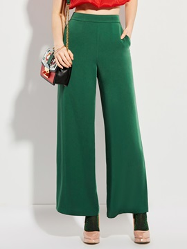 Plain Loose Straight Casual Pants