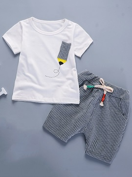 Formal Stripe Lace Up Boys Outfits