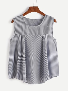 Round Neck Stripe Tank Top