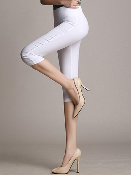 Plain High Waist Cotton Leggings