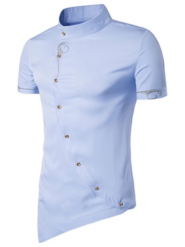 Oblique Slim Fit Mens Unique Shirt