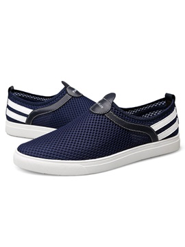 Mesh Color Block Slip On Good Mens Shoes