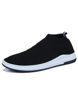 Cloth Breathable Slip On Mens Sneakers Discount