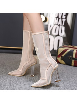 Mesh Back Zip Breathable Womens Boots