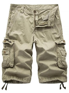 Pockets Knee Length Mens Casual Shorts