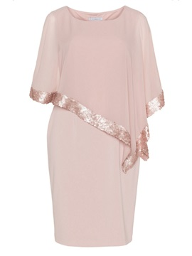 Pink Chiffon Plus Size Womens Bodycon Dress
