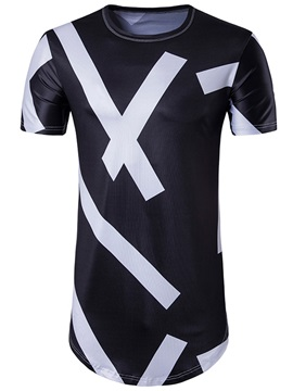 3d Geometric Stripe Vogue Mens T Shirt