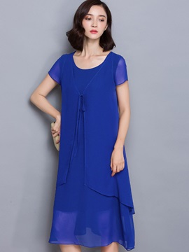 Chiffon Scoop Womens Dress
