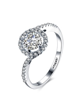 Fashion Round Embellished Rhinestone Womens Ring