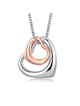 Romantic Hollow Sweet Heart Shaped Pendant Necklace