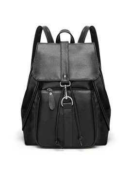 Preppy Chic Solid Color Backpack