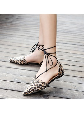 Suede Lace Up Nice Womens Flat Sandals