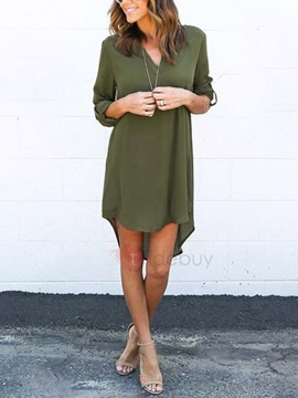Casual Half Sleeves Long Shirt