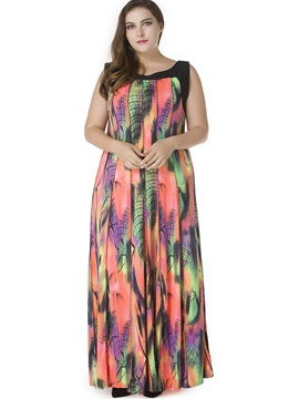Plus Size Sleeveless Chiffon Dress