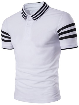 Summer Stripe Slim Fit Mens T Shirt