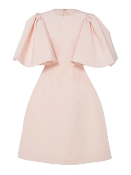 Pink Flare Sleeve Womens Skater Dress