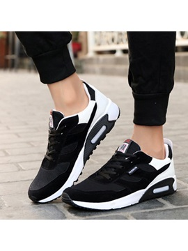 Mesh Color Block Lace Up Discount Sneaker For Men