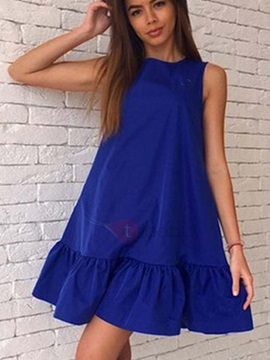 Sleeveless Short Casual Fit Dress