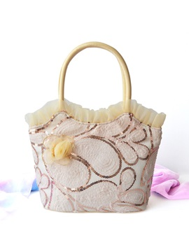 Ladylike Floral Velour Tote Bag