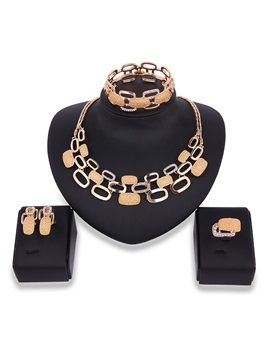 Alloy Diamante Link Chain Jewelry Sets