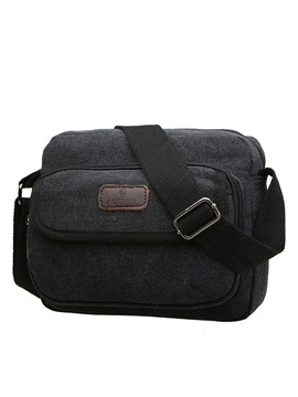 Korea Style Solid Color Canvas Mens Bag