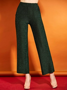 Slim Plain Wide Legs Womens Pants