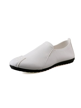 Pu Slip On Round Toe Casual Shoes For Men