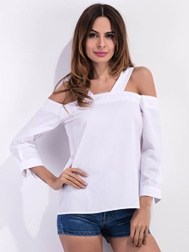 Stylish White Cold Shoulder Blouse