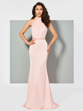 Mermaid Beading Bowknot Evening Dress