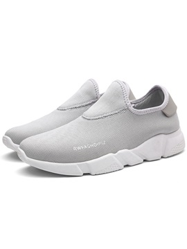 Mesh Breathable Plain Slip On Mens Sneakers
