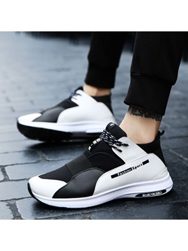 Cloth Color Block Lace Up Sneakers For Men