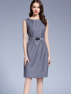Nice Round Neck Sleeveless Short Day Dress