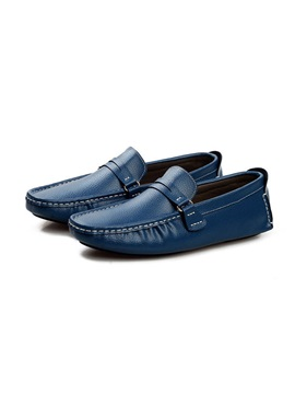 Pu Plain Slip On Simple Mens Shoes