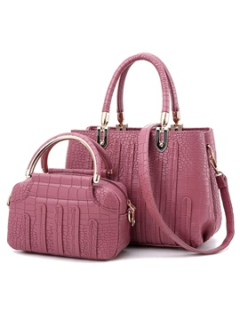 Occident Style Croco Embossed Bag Set