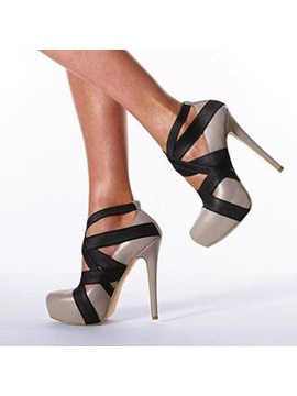 Color Block Platform Stiletto Heel Pumps