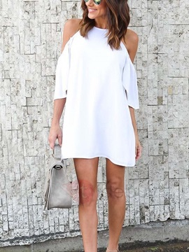 Cold Shoulder Womens Dress
