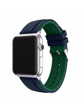 For Apple Watch Series 1 2 Iwatch Band Environmental Protection Silicone Wear Resistant Deformation Non Toxic Smart Watch Band