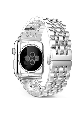 Personality Smart Watch Stainless Steel Band Butterfly Buckle Chain Style For Apple Watch Series 1 2 Iwatch